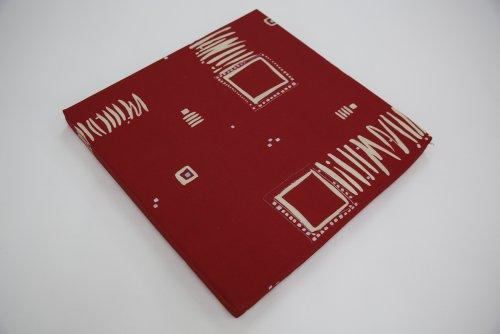 Sitzkissen, Stuhlkissen, Kissen, Auflage aus Schaumstoff RG 35 mit hochwertigem Bezug (weinrot gemustert, 45 x 40 x 4cm)