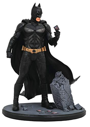 He's the hero Gotham deserves, and now he's the latest PVC Diorama in the DC Movie Gallery line! Based on Christopher Nolan's movie The Dark Knight, this sculpture of Batman shows him examining a playing card amid the rubble of one of the Joker's esc...
