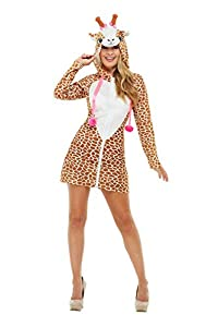 Smiffys 47786L - Disfraz de jirafa para mujer, talla L, color marrón