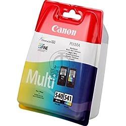 Canon-Canon Pixma MG d'origine 3650(PG-540CL 541/5225B 006)-2x tête d'impression Multipack (Noir, Cyan, Magenta, Jaune)-180pages