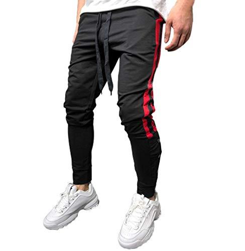 Tomatoa Herren Jogginghose Jogging-Hose Stripe Pants Slim Fit Sweatpants  Streifen Slim Fit Freitzeithose Chino Cargo Hosen Sport Track Pants 4d759198ff