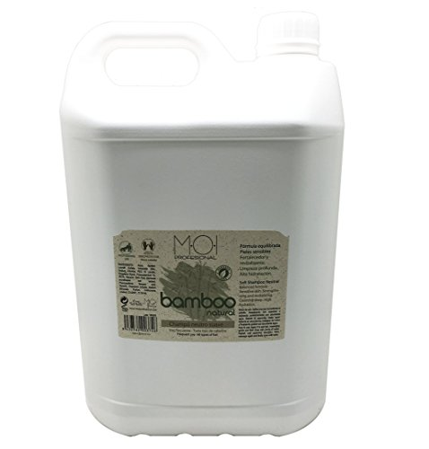 Champú profesional Neutro suave BAMBOO NATURAL Sin parabenos uso frecuente 5000ml.(Garrafa) MOI HairCare