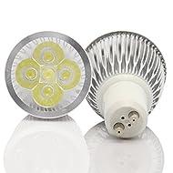 HY LED Super Lumineux GU106W Spot Ampoule LED, blanc chaud, 60W équivalent, d'économie d'énergie, idéal pour remplacer 60Ampoules Halogènes 10 pack blanc chaud