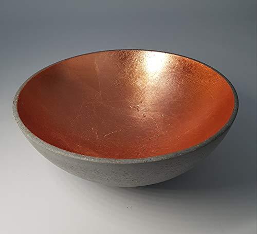 DEVIGA Beton Schale 29cm (Bronze): Obstschale/Aufbewahrungsschale - Bronze, Beton