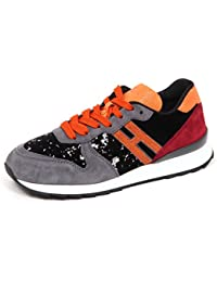 Hogan E4520 Sneaker Donna Suede Velvet R261 Scarpe Nero Grigio Shoe Woman 2d489ed8ba1