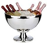 Buddy´s Bar–Champán Enfriador Impressive, Grande de Acero Inoxidable, Pulido y Doble Pared, Extra Resistente con 10,5L Capacidad, Apto para lavavajillas.
