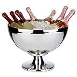 Buddy Impressive, grote champagnekoeler, hoogwaardige champagnekoeler van roestvrij staal, hoogglans gepolijst en dubbelwandig, extra robuust met een inhoud van 15 liter, vaatwasmachinebestendig
