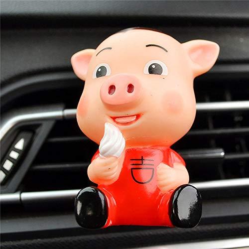 SIOJB Deodorante per Auto PVC Pig Profumo Clip Auto Aria condizionata Presa Clip Profumo Diffusore Deodorante per Auto Accessori Regalo-Gelato