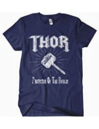 Thor T shirt - The Mighty Avenger Thor Protector of Asgaurd - Navy