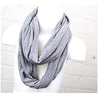 Loop Schal für Kinder und Jugendliche einfarbig grau meliert Jungen und Mädchen