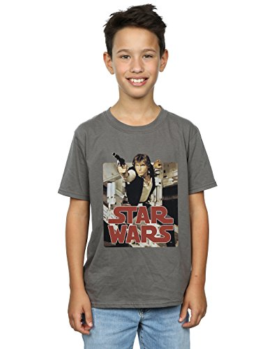 Solo Shooting T-Shirt 9-11 years Holzkohle (Han Solo Kinder)