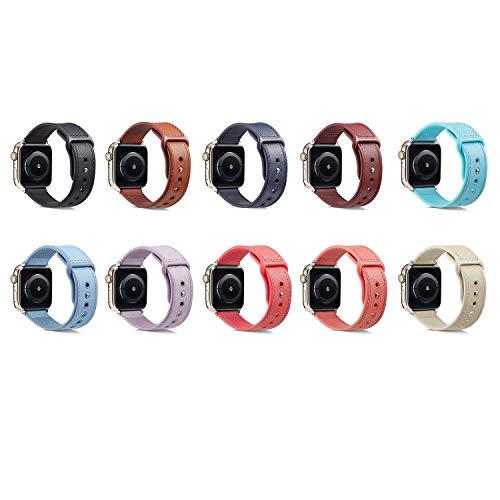 Lucy Day Top Leder + TPU Uhr, 360 Grad Schutz, passend for IWatch 1-4 Serie Armband |Wasserdicht, atmungsaktiv, langlebig, for den Outdoor-Sport geeignet Männer und Frauen Smart Watch Strap Zubehör