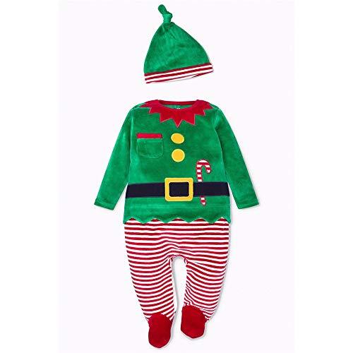 Costume di festa di Natale Just Love Christmas Coverall For Baby & Infant con il cappello di Babbo Natale abbinato Costume Natale Babbo Natale Costume Babbo Natale ( Colore : E , Dimensione : 100 )