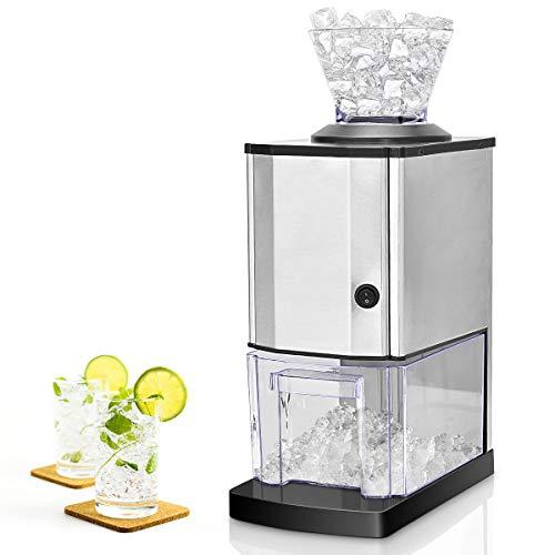 COSTWAY Eiscrusher Ice Crusher Maschine elektrisch Eiszerkleinerer 15kg/h 3,5L Edelstahlgehäuse