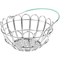 MagiDeal Kids Mini Metal Supermarket Shopping Basket For Kitchen Fruit Vegetable Food Grocery Storage Pretend Play Tools Toy Gifts Green
