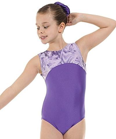Justaucorps de gymnastique sans manches en Lycra Sport Wear Violet
