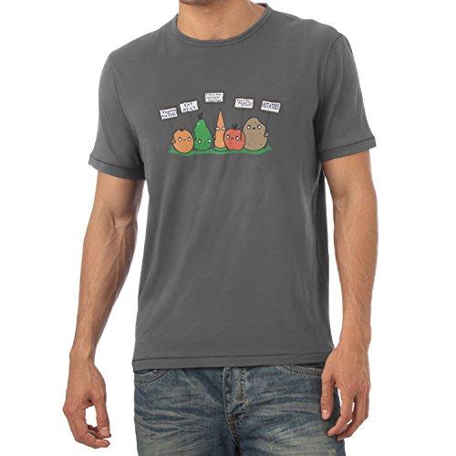 TEXLAB - Angry Plants - Herren T-Shirt Grau