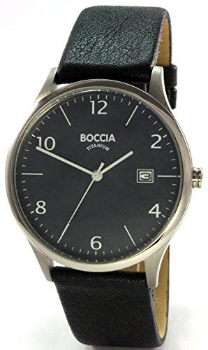 Boccia Reloj analógico para Hombre de Cuarzo con Correa en Piel 3585-03