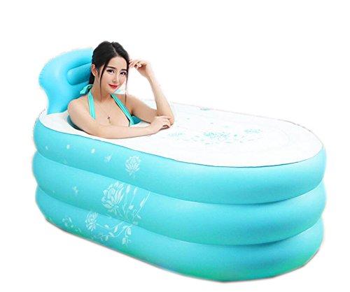 Bañera para adultos inflable plegable azul