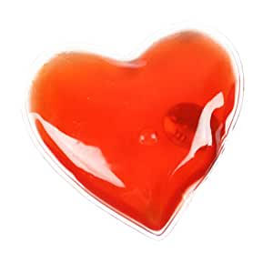 eBuyGB Pack of 4 Reusable Instant Gel Hand Warmer (Red Heart)