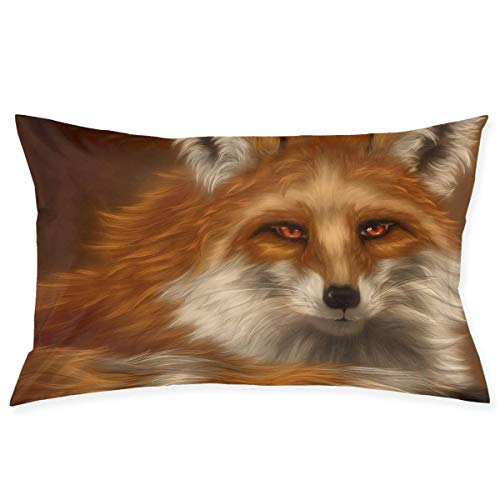 Cute Fox Painting Art Pillowcase - Zippered Pillowcase, Pillow Protector, Best Pillow Cover - Standard Size 20x30 Inches, Double-Sided Print (Halloween Ideen Body Painting)