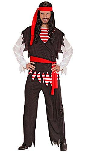 Imagen de widman  disfraz de pirata para hombre, talla 52  54 w3917 l