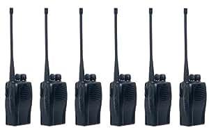 Entel HX412 5 W basse 66-88MHz Radio bande avec batterie Li-Ion et Chargeur-Set de 6