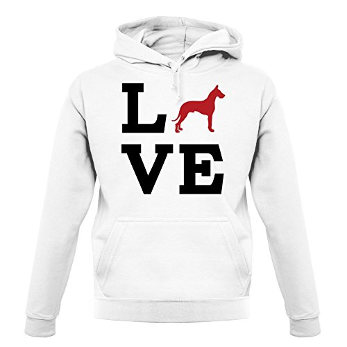 Love Great Dane Dog Silhouette - Unisex Hoodie / Hooded Top - 12 Colours