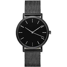 Ihee Watchband Wear molto Comfortableclassic orologio da polso uomo cinturino in acciaio al quarzo orologi casual da donna nuovo Fashion, donna Uomo, Black, 135-210mm