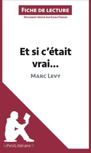 Et si c'était vrai. . . de Marc Levy (Fiche de lecture): Résumé Complet Et Analyse Détaillée De L'oeuvre