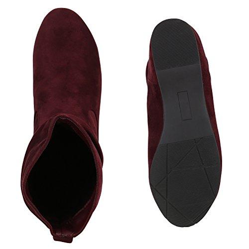 Japado - Stivali Donna Rosso scuro