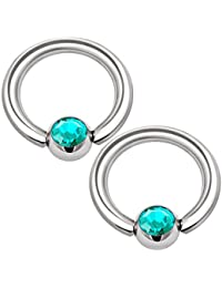 5e2f2423298c0 Amazon.co.uk: Stainless Steel - Body Jewellery / Novelty Jewellery ...