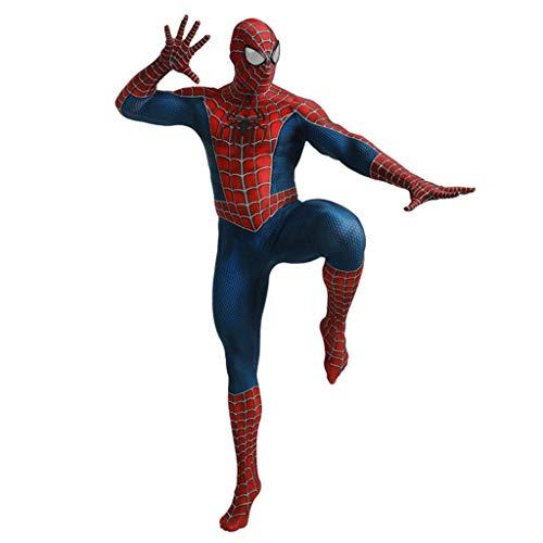 Kostüm Anpassen Spandex - Spider-Man Cosplay Herren All Inclusive Strumpfhose Zentai Adult Onesies für Halloween Lycra Spandex Kostüm Superheld Spiderman Kostüme,Spiderman,L