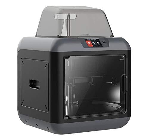 Monoprice 150 3D-Drucker - Schwarz mit (150 x 140 x 140 mm) herausnehmbarer Bauplatte, vollständig geschlossen, Touchscreen, unterstütztes Ausrichten, extrem leises Drucken, einfaches WLAN - 3