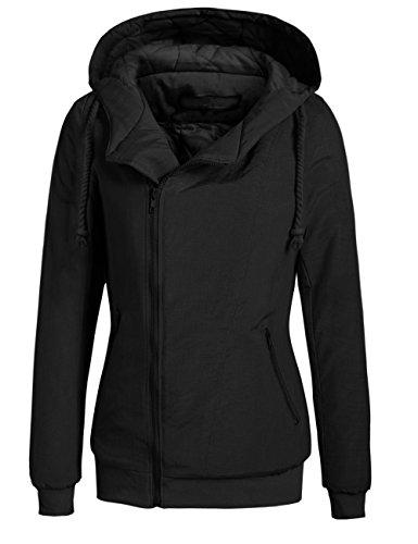 Pagacat Damen Sweatjacke, Kapuzejacke Hoodie Zip-Hood Winddicht Warm mit Kapuze Tasche Winter Jacke -