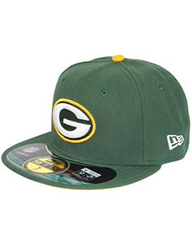 Baseball cap new era bonnet pour adulte on bay packers nFL field 59 fifty fitted green