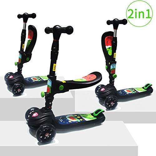 Baobë Monopattini Scooter per Bambini 2 in 1, Il Primo motorino Pieghevole Pieghevole a 3 Ruote per i Miei Bambini 2 a 8anni