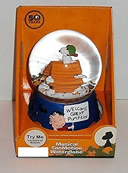 Peanuts Halloween Seine The Great Kürbis Charlie Brown Snoopy Flying Ace Musical Waterglobe