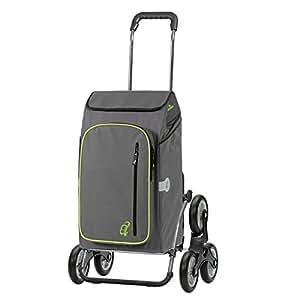 Andersen Sondermodell Einkaufstrolley Royal als Treppensteiger &  Einkaufstasche Toto grau mit Kühlfach | Einkaufswagen klappbar |