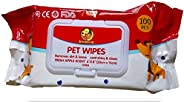 """Foodie Puppies Wet Pet Wipes for Dogs, Puppies & Pets with Fresh Apple Scent 6""""x 8"""" - Pac"""
