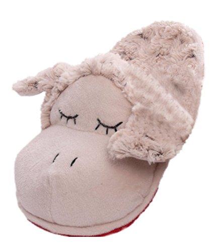 Hausschuhe Schaf, creme-meliert, Größe M = 38-40, Pantoffeln, Puschen