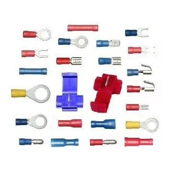 Bag of 76 orted Auto Car Van Electrical crimping ... Auto Electric Wiring on