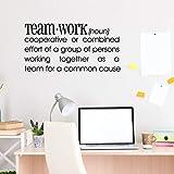 Wandtattoo mit Zitat – Teamwork Definition – Büro Wandaufkleber – inspirierendes Zitat – Word Decals 55 cm x 28 cm