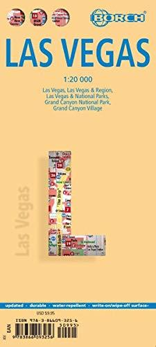 Las Vegas, Borch Map: Las Vegas, Las Vegas & Region, Las vegas & National Parks, Grand Canyon National Park, Grand Canyon Village (Borch Maps)
