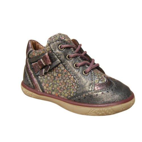 Chaussures filles NOEL montantes cuir gris Gris