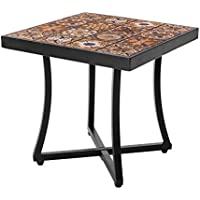 Mesa de jardín de hierro y mosaico marrón para terraza Garden - LOLAhome