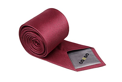 Notch Krawatte aus Seide für Herren - Winzige Karos in Rot und Pink (Winzige Seide)