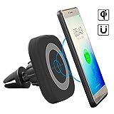Auckly 10W Qi Wireless Fast Charger, KFZ Halterung, Anti-Slip Silikon Armaturenbrett Matte...