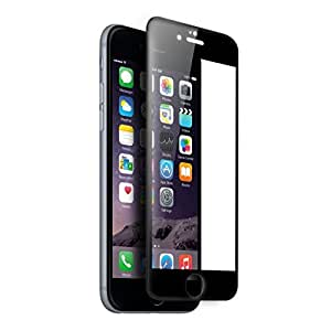 KAYZZ (TM) Curved Edge 3D Full Screen Tempered Glass Screen Protector for iPhone 6 / 6S (4.7 Inch) Black