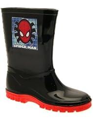 Kids Boys Niños Spiderman de Marvel Botas Nieve Cálido Botas De Invierno, Color negro y rojo tallas Junior 7–13